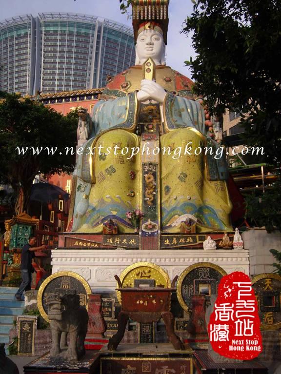 Tin Hau Statue in Tin Hau Temple