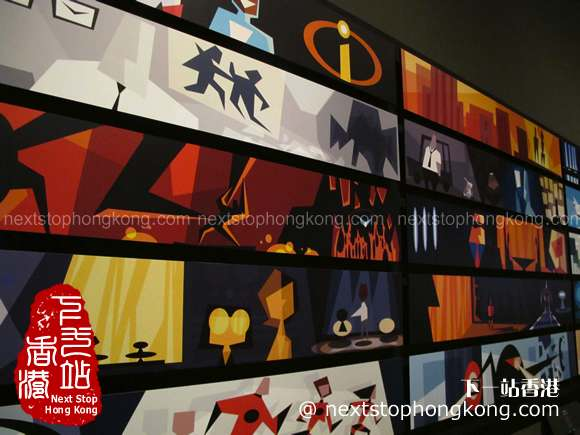 Colorscript of The Incredibles of Pixar 25th Anniversary Exhibition