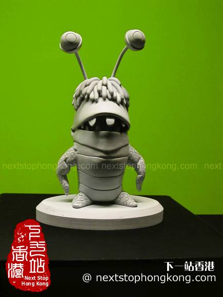 Sculpture of Boo from Monster Inc on Pixar 25th Anniversary Exhibition