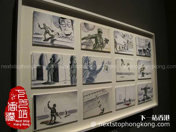 Storyboard of Toy Story of Pixar 25th Anniversary Exhibition