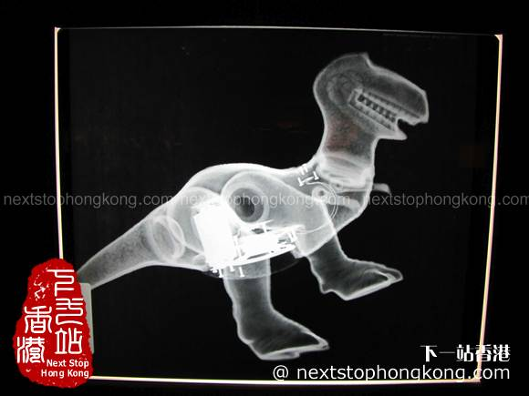 X-ray from Rex from Toy Story on Pixar 25th Anniversary Exhibition