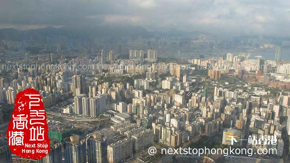 從天際100香港觀景台上看九龍半島