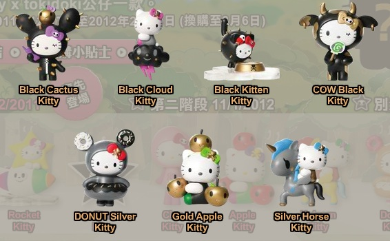 Golden Black Edition of 7-Eleven Hello Kitty X tokidoki
