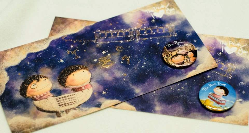 Oowa limited postcard and pin