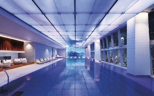 Swimming Pool on 118th Floor at Ritz Carlton