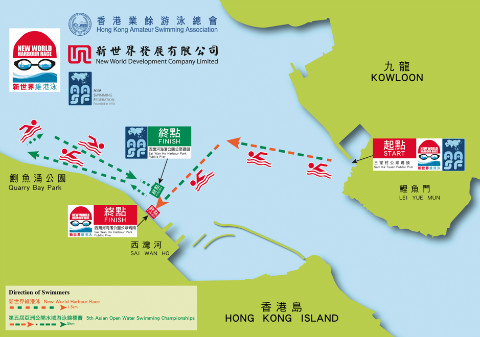 Location and Route of 2012 New World Harbour Race