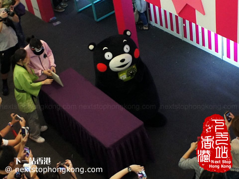 Kumamon Showed up in the Pop-up Store