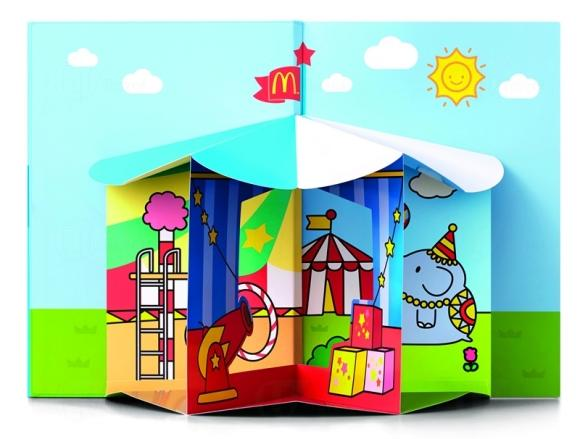 "Hong Kong McDonalds Hello Kitty ""Circus of Life"" Collection - Pop-up Book"