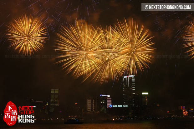 2013 Chinese New Year Fireworks in Hong Kong