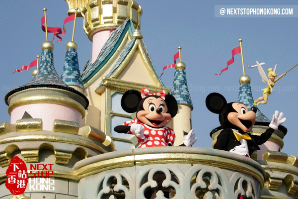 Cute Mickey and Minnie in Hong Kong Disneyland Parade