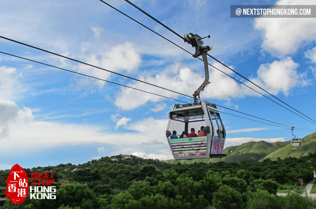 View of Mountains from Ngong Ping 360 Cable Car