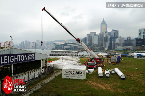 Hong Kong Observation Wheel Construction Site