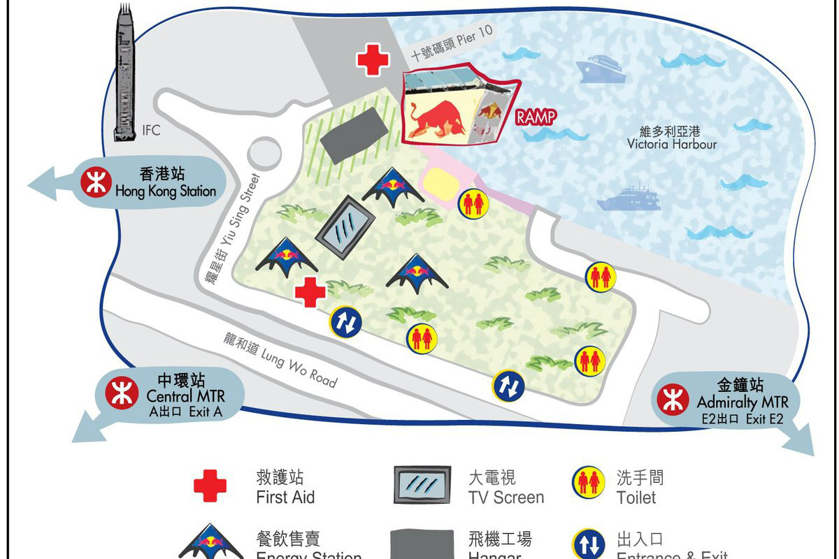 Red Bull Flugtag 2014 Hong Kong Event Map