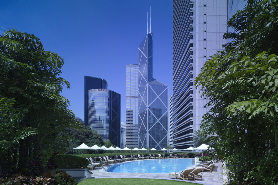 Swimming Pool of Island Shangri-La Hotel Hong Kong
