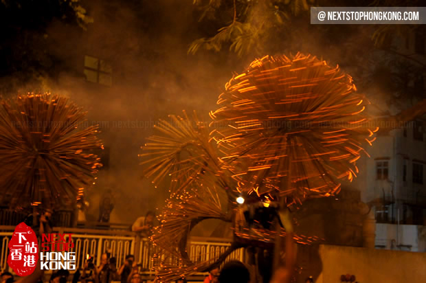Fire Dragon Dance in Mid-Autumn Festival Hong Kong