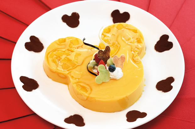 Mango Pudding in Chef Mickey