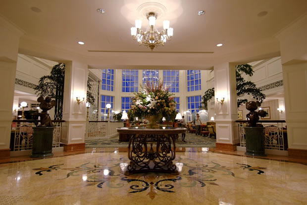 Entrance of The Lobby of Hong Kong Disneyland Hotel