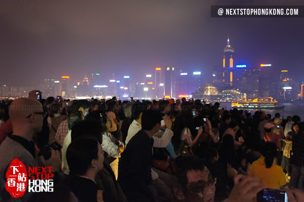 Crowds Waiting for A Symphony of Lights in TST