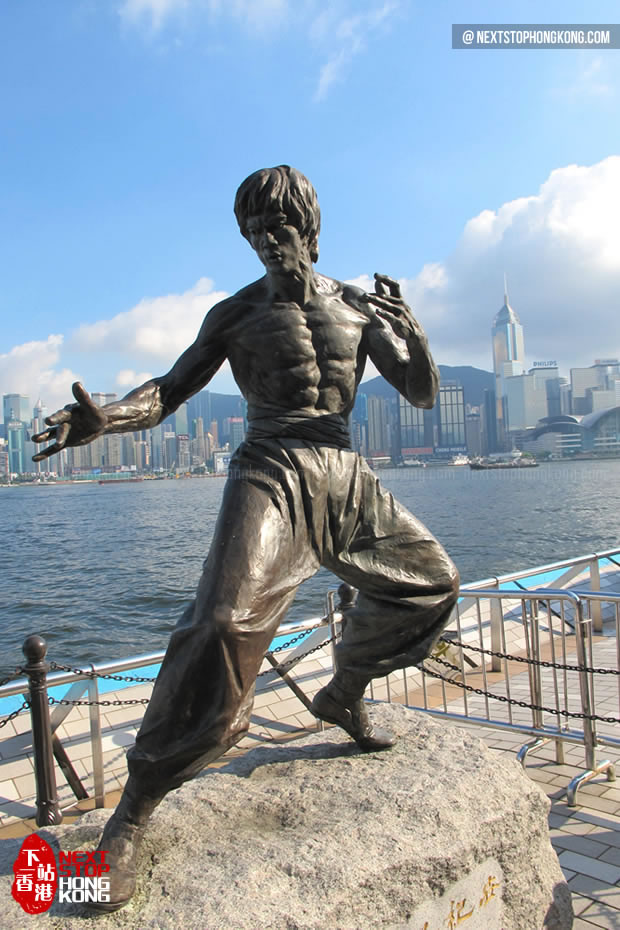 Bruce Lee Sculpture on Avenue of Stars