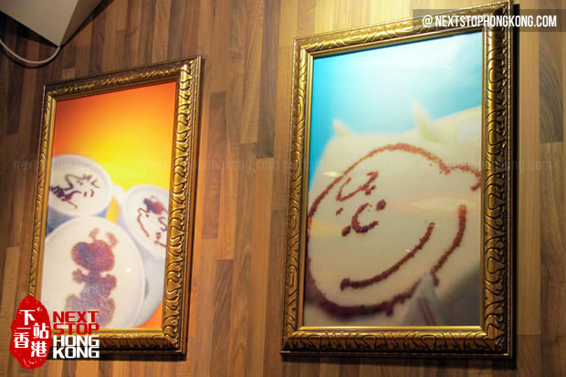 Paintings on the Wall of Charlie Brown Café