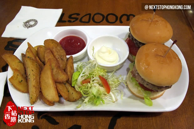 Mini Burger Platter from Charlie Brown Café