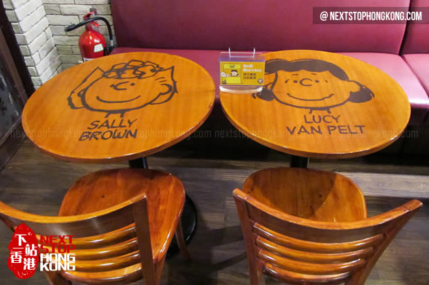 Tables in Charlie Brown Café