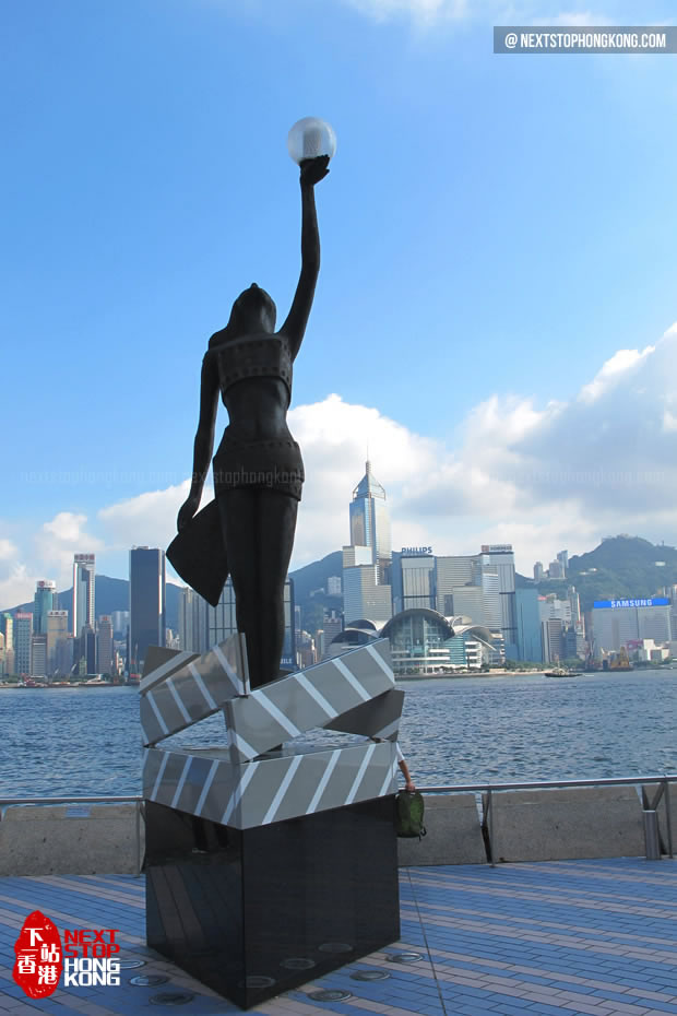 Statue of Hong Kong Film Awards on Start of Avenue of Stars