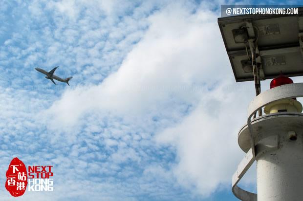 从沙螺湾看飞机起飞