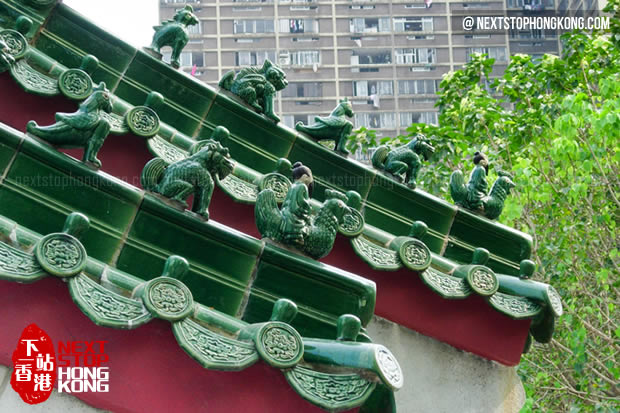 Decoration of Roof in Sik Sik Yuen Wong Tai Sin Temple