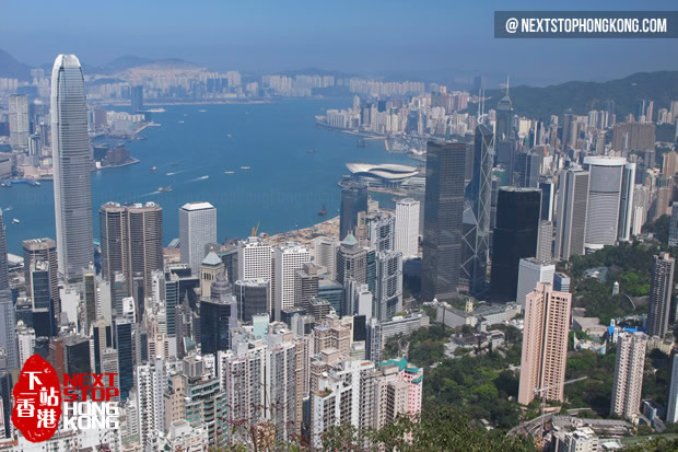 The Day View of Hong Kong from The Peak
