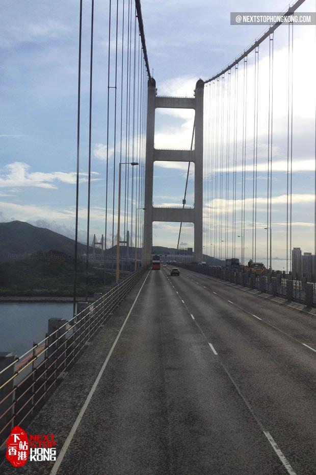 Kap Shui Mun Bridge from the Bus