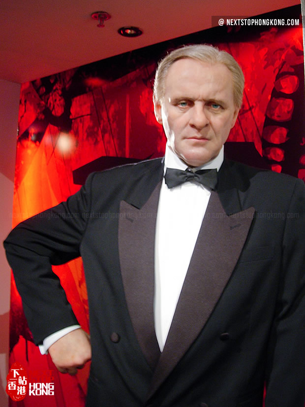Figure of Anthony Hopkins in Madame Tussauds Hong Kong