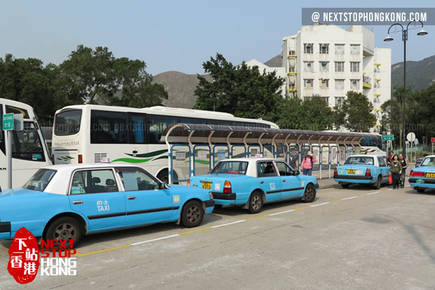 Blue Taxis on Lantau Island