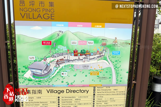 Instruction of Ngong Ping Village