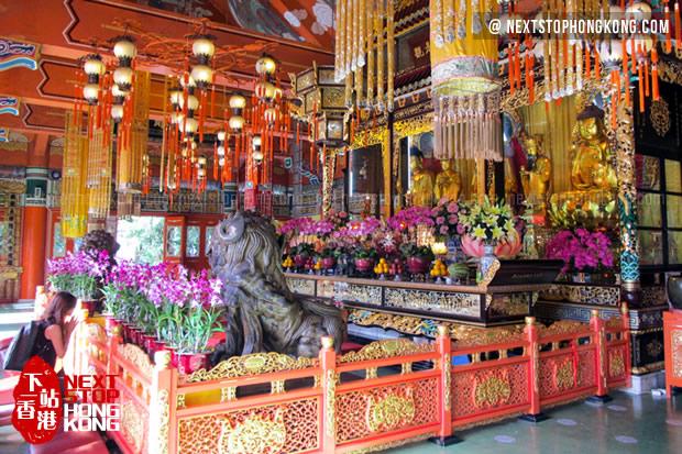 Interior of Po Lin Monastery of Ngong Ping
