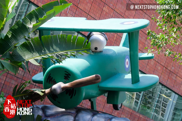 Snoopy in Plane as World War I Flying Ace