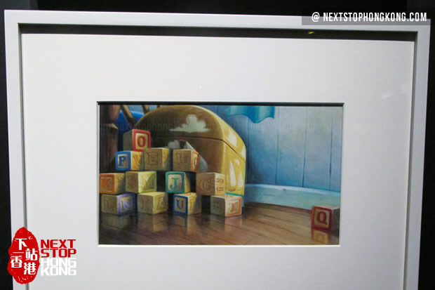 Painting of Toy Story of Pixar 25th Anniversary Exhibition