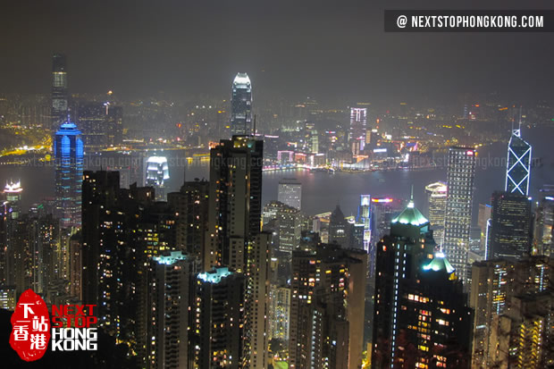 The Night View of Hong Kong from The Peak