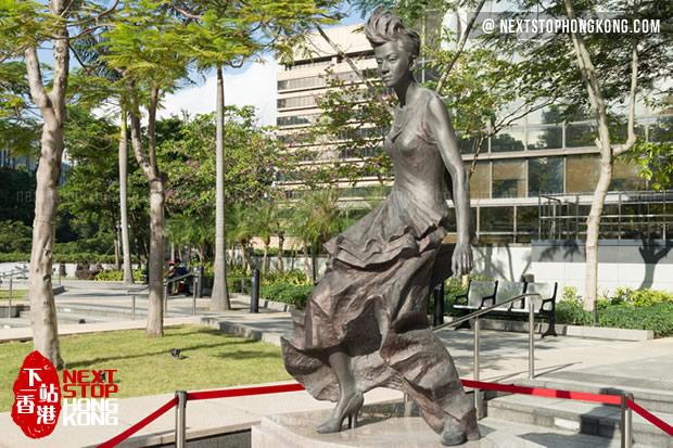 Anita Mui statue on Garden of Stars