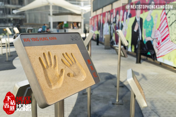 Handprint of Wai Ying Hung on Garden of Stars