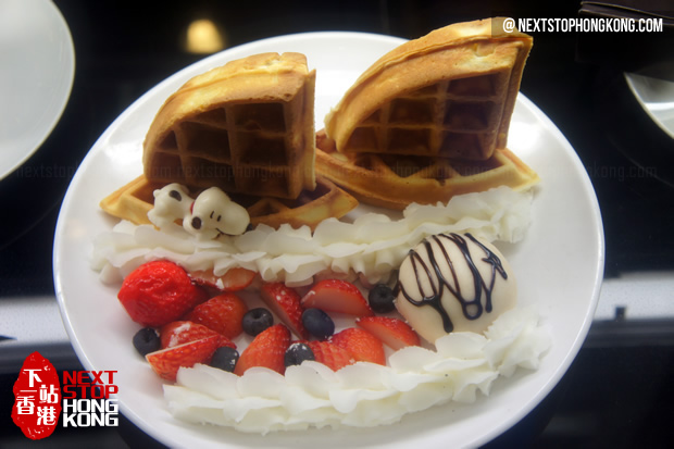 Waffles from Charlie Brown Café
