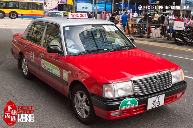 Hong Kong Red Taxi