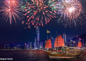 2018 Hong Kong Chinese New Year Fireworks Harbour Tour