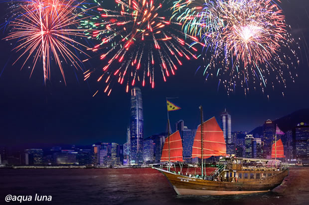 2019 new years eve fireworks victoria harbour tour aqua luna tour