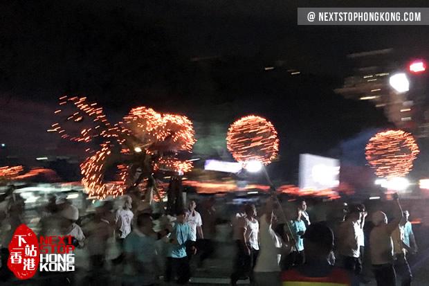 Mid-Autumn Fire Dragon Dance in Victoria Park