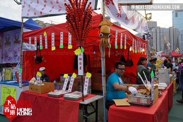 Food Stalls on Chinese New Year Flower Markets