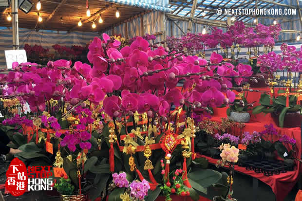 Market Stall Decorated With Flowers